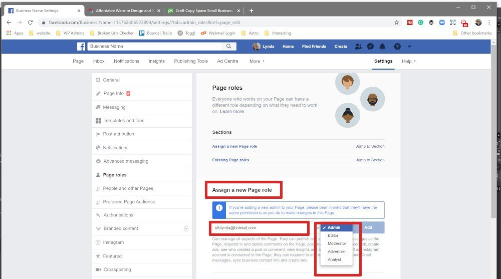 How to Add an Admin or Editor to your Facebook Page