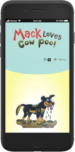 Mack Loves Cow Poo website mobile view