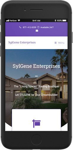 SylGene Enterprises website mobile view
