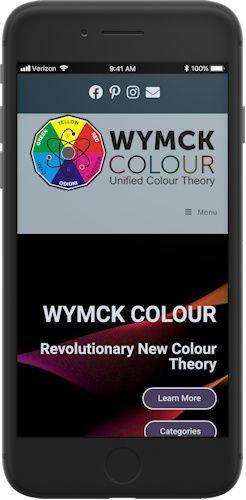 WYMCK Colour website mobile view