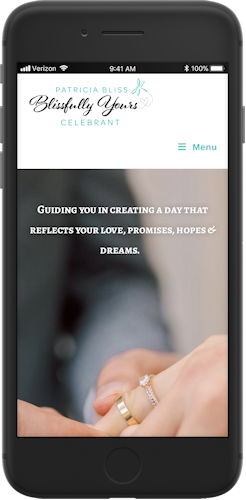 Blissfully Yours mobile responsive screenshot