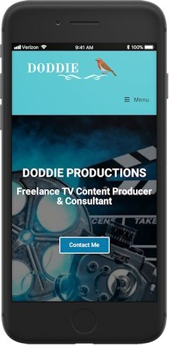 Doddie Productions website screenshot