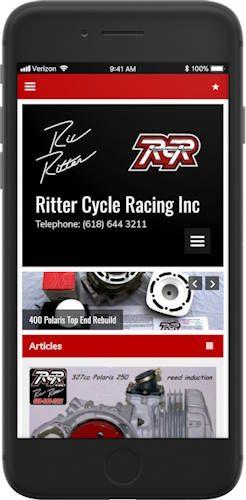 Ritter Cycle Racing Inc website screenshot